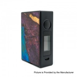 Authentic Asmodus EOS 180W Touch Screen TC VW Variable Wattage Box Mod - Purple, Aluminum + Stabilized Wood, 5~200W, 2 x 18650