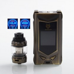Authentic Snowwolf Mfeng Limited Edition 200W TC VW Variable Wattage Mod + Mfeng Tank Kit - Bronze, 10~200W, 2 x 18650