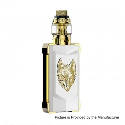 Authentic Snowwolf Mfeng Limited Edition 200W TC Variable Wattage Mod + Mfeng Tank Kit - Pearl White + Gold, 10~200W, 2 x 18650
