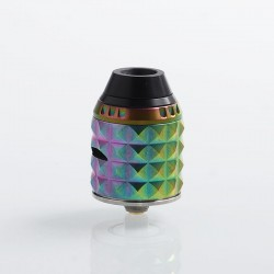 Authentic Vandy Vape Capstone RDA Rebuildable Dripping Atomizer w/ BF Pin - Rainbow, Stainless Steel, 24mm Diameter