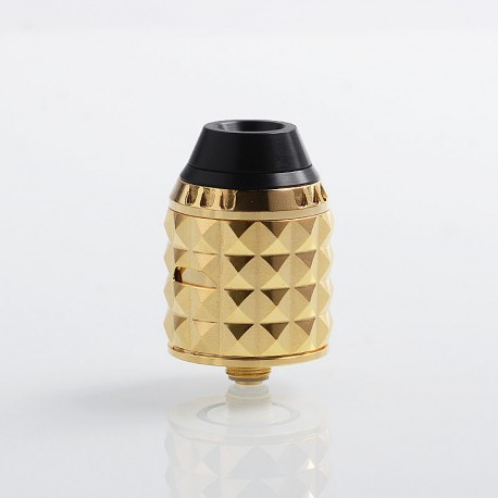 Authentic Vandy Vape Capstone RDA Rebuildable Dripping Atomizer w/ BF Pin - Gold, Stainless Steel, 24mm Diameter