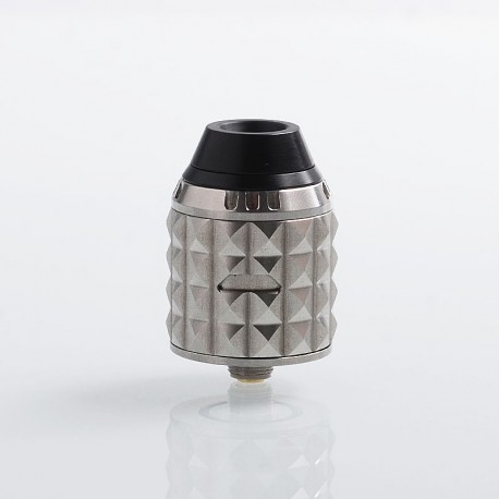 Authentic Vandy Vape Capstone RDA Rebuildable Dripping Atomizer w/ BF Pin - Silver, Stainless Steel, 24mm Diameter