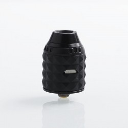 Authentic Vandy Vape Capstone RDA Rebuildable Dripping Atomizer w/ BF Pin - Matte Black, Stainless Steel, 24mm Diameter