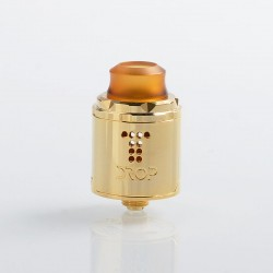 Authentic Digiflavor Drop Solo RDA Rebuildable Dripping Atomizer w/ BF Pin - Gold, Stainless Steel, 22mm Diameter