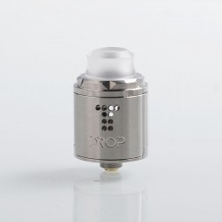 Authentic Digiflavor Drop Solo RDA Rebuildable Dripping Atomizer w/ BF Pin - Silver, Stainless Steel, 22mm Diameter