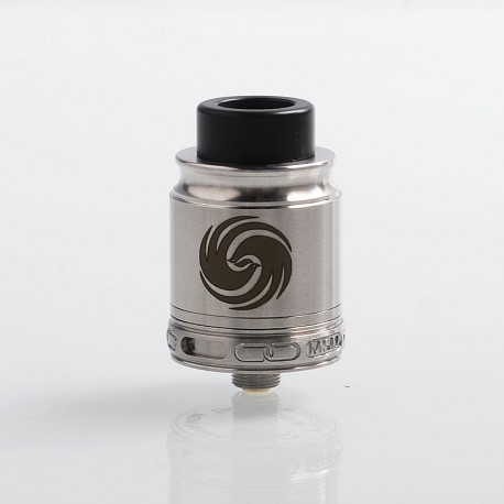 Authentic Omeka MSM Phoebe RDA Rebuildable Dripping Atomizer - Silver, Stainless Steel, 24mm Diameter