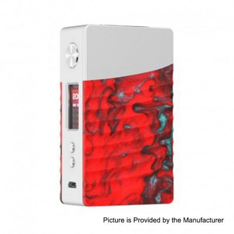 Authentic GeekVape Nova 200W TC VW Variable Wattage Box Mod - Silver + Ember Resin, 2 x 18650