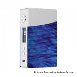 Authentic GeekVape Nova 200W TC VW Variable Wattage Box Mod - Silver + Cobalt Resin, 2 x 18650