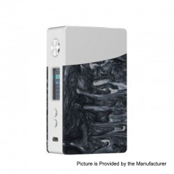 Authentic GeekVape Nova 200W TC VW Variable Wattage Box Mod - Silver + Onyx Resin, 2 x 18650