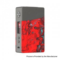 Authentic GeekVape Nova 200W TC VW Variable Wattage Box Mod - Gun Metal + Ember Resin, 2 x 18650