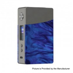 Authentic GeekVape Nova 200W TC VW Variable Wattage Box Mod - Gun Metal + Cobalt Resin, 2 x 18650