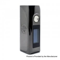 Authentic Asmodus Colossal 80W TC VW Variable Wattage Box Mod - Gun Metal, 5~80W, 1 x 18650