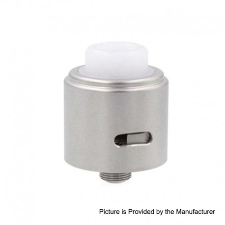 Vapeasy Jazz Style RDA Rebuildable Dripping Atomizer w/ BF Pin - Silver, 316 Stainless Steel, 22mm Diameter