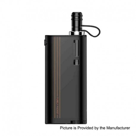 Authentic Fumytech Purely Pocket 2300mAh Starter Kit - Black, 0.7 Ohm/ 0.9 Ohm, 3ml