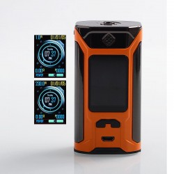 Authentic Wismec SINUOUS RAVAGE230 230W TC VW Variable Wattage Box Mod - Gloss Orange, 1~230W, 2 x 18650