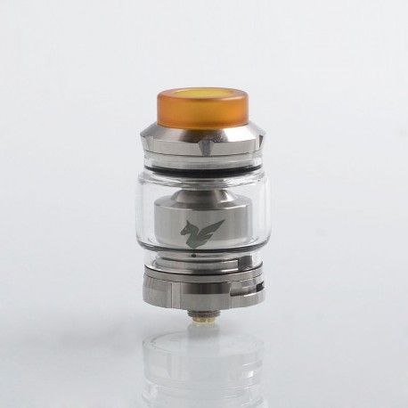 Authentic Wismec Bellerophon RTA Rebuildable Tank Atomizer - Silver, Stainless Steel, 4ml, 27mm Diameter