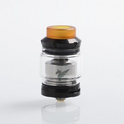 Authentic Wismec Bellerophon RTA Rebuildable Tank Atomizer - Black, Stainless Steel, 4ml, 27mm Diameter