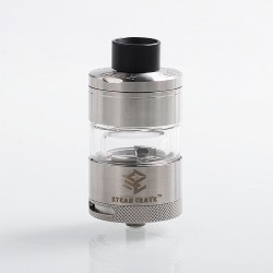 Authentic Steam Crave Glaz RTA Rebuildable Tank Atomizer - Silver, Stainless Steel, 7ml, 31mm Diameter