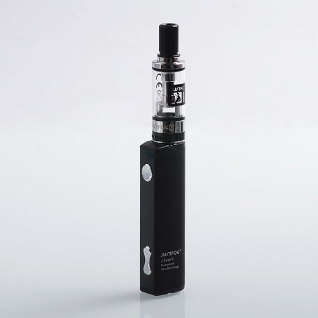 Authentic Justfog J-Easy 9 900mAh Mod + Q16 Clearomizer Starter Kit - Black, 2ml, 1.6 Ohm