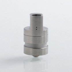 Kindbright Monad V2 Style RTA Rebuildable Tank Atomizer - Silver, 316 Stainless Steel, 2.9ml, 22mm Diameter