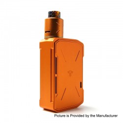 Authentic Tesla Invader IV 280W VV Variable Voltage Box Mod + RDA Kit w/ 20700 Battey - Orange, 3~8V, 2 x 18650 / 20700 / 21700