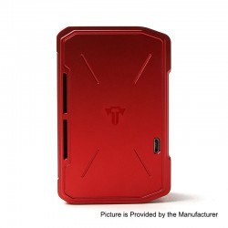 Authentic Tesla Invader IV 280W VV Variable Voltage Box Mod - Red, 3~8V, 1 x 18650 / 20700 / 21700