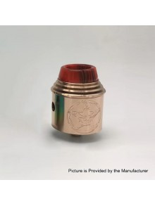 Vital Style RDA Rebuildable Dripping Atomizer w/ BF Pin - Copper, Stainless Steel, 24mm Diameter