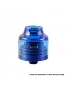 Authentic Oumier Wasp Nano Mini RDA Rebuildable Dripping Atomizer w/ BF Pin - Transparent Blue, PC + SS, 22mm Diameter