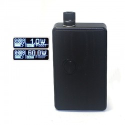 SXK BB Style 60W All-in-One Box Mod Kit w/ USB Port - Black, Aluminum Alloy, 1 x 18650, Evolv DNA 60