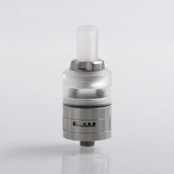 Caiman Style MTL RDA Rebuildable Dripping Atomizer w/ BF Pin - Silver, 316 Stainless Steel, 22mm Diameter