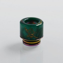 Authentic Shield Cig Adjustable 810 Drip Tip for TFV8 / TFV12 Tank / 528 Goon / Kennedy / Reload RDA - Green, Resin, 16.5mm