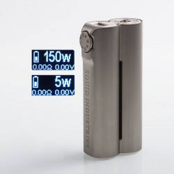 Authentic Squid Industries Double Barrel V2.1 150W VW Variable Wattage Box Mod - Grey Champagne, 5~150W, 2 x 18650