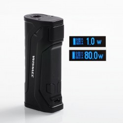 Authentic Wismec CB-80 80W TC VW Variable Wattage Box Mod - Black, 1~80W, 1 x 18650