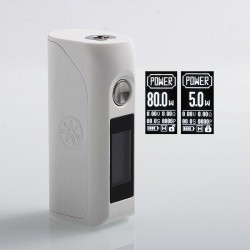Authentic Asmodus Colossal 80W TC VW Variable Wattage Box Mod - White Thermo Pink, 5~80W, 1 x 18650