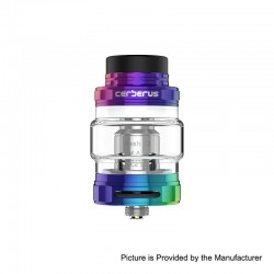 Authentic GeekVape Cerberus Sub Ohm Tank Clearomizer - Rainbow, Stainless Steel, 4ml, 27mm Diameter