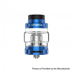Authentic GeekVape Cerberus Sub Ohm Tank Clearomizer - Blue, Stainless Steel, 4ml, 27mm Diameter