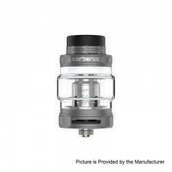 Authentic GeekVape Cerberus Sub Ohm Tank Clearomizer - Gun Metal, Stainless Steel, 4ml, 27mm Diameter