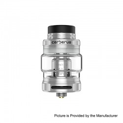 Authentic GeekVape Cerberus Sub Ohm Tank Clearomizer - Silver, Stainless Steel, 4ml, 27mm Diameter