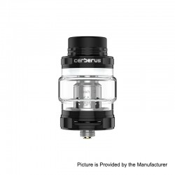 Authentic GeekVape Cerberus Sub Ohm Tank Clearomizer - Black, Stainless Steel, 4ml, 27mm Diameter