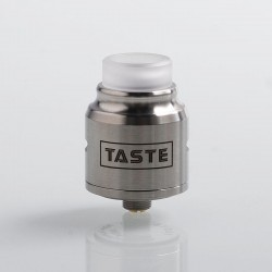 Authentic Omeka MSM Taste RDA Rebuildable Dripping Atomizer w/ BF Pin - Silver, Stainless Steel, 24mm Diameter