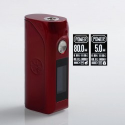 Authentic Asmodus Colossal 80W TC VW Variable Wattage Box Mod - Red, 5~80W, 1 x 18650