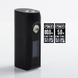 Authentic Asmodus Colossal 80W TC VW Variable Wattage Box Mod - Black, 5~80W, 1 x 18650