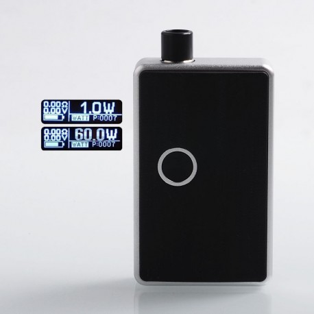 SXK BB Style 70W All-in-One Box Mod Kit w/ USB Port - Silver, Aluminum, 1 x 18650