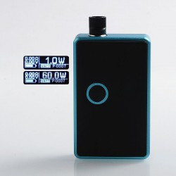 SXK BB Style 60W All-in-One Box Mod Kit w/ USB Port - Blue, Aluminum Alloy, 1 x 18650, Evolv DNA 60