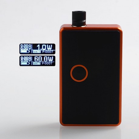 SXK BB Style 60W All-in-One Box Mod Kit w/ USB Port - Orange, Aluminum Alloy, 1 x 18650, Evolv DNA 60