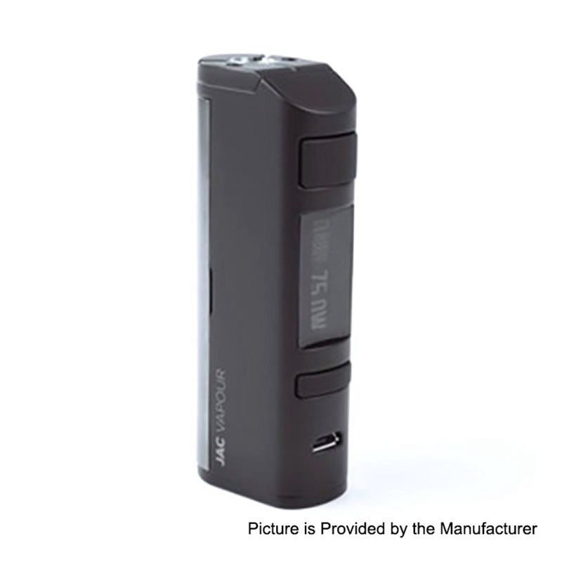 Buy Jac Vapour Series-B DNA 75W Black TC VW Variable Wattage Box Mod