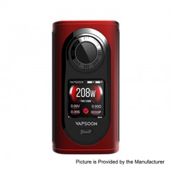 Authentic Laisimo Vapsoon-Spin 208W TC VW Variable Wattage Box Mod - Red, 10~208W, 2 x 18650