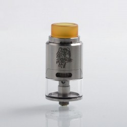 Authentic 5GVape Leopard RDTA Rebuildable Dripping Tank Atomizer - Silver, Stainless Steel, 4ml, 24mm Diameter