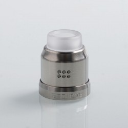 Authentic Wotofo 22mm Conversion Cap for Recurve RDA - Silver