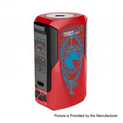 Authentic Vaporesso Tarot Baby 85W 2500mAh TC VW Variable Wattage Box Mod - Red, 5~85W